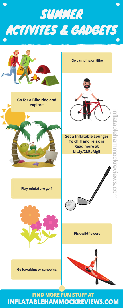 Top 6 Activites To do in summertime Infographic