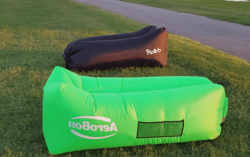two different inflatable lounge brands